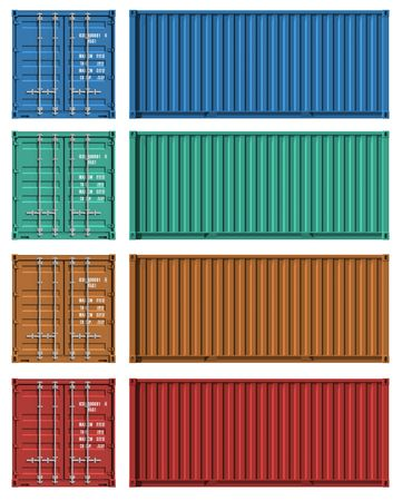 Set of cargo container templates Stock Photo - 7946961