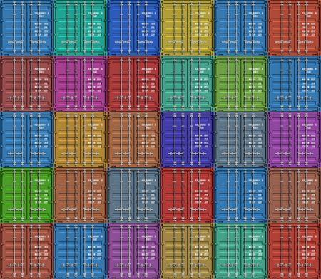 containers: Background from color cargo containers
