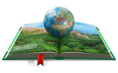 scientific literature: Environment protection concept Stock Photo