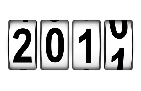 New Year 2011 counter Stock Photo - 8128116