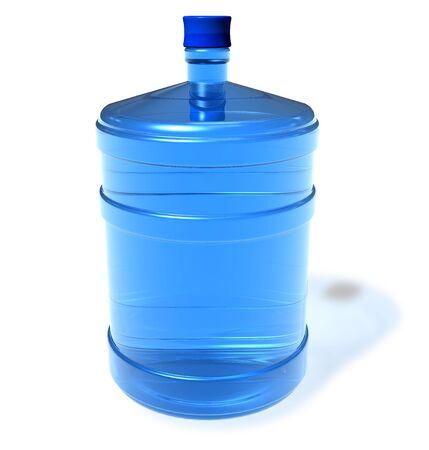 bottled: Big bottle of water