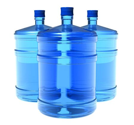 engarrafado: Set of big bottles of water