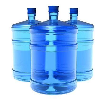 bottled: Set of big bottles of water