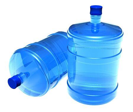 Set of big bottles of water photo