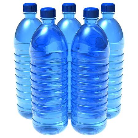 bottled: Bottles of water
