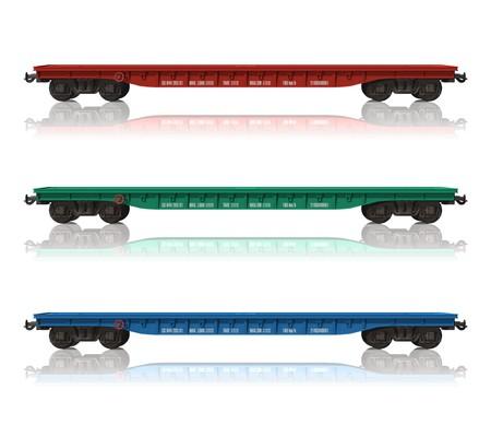 flatcar: Set of railroad flatcars