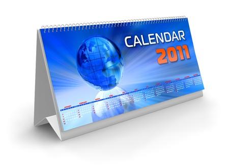 Desktop calendar 2011 photo