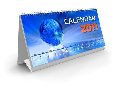 Desktop calendar 2011 photo