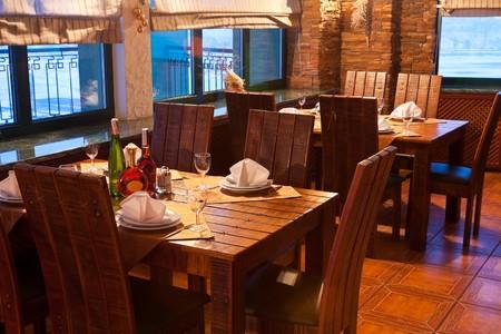 restaurant interior: Vintage restaurant interior