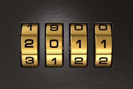 New Year 2011 code lock Stock Photo - 8249223