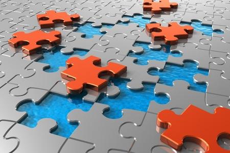 jigsaws: Concetto di puzzle  Archivio Fotografico