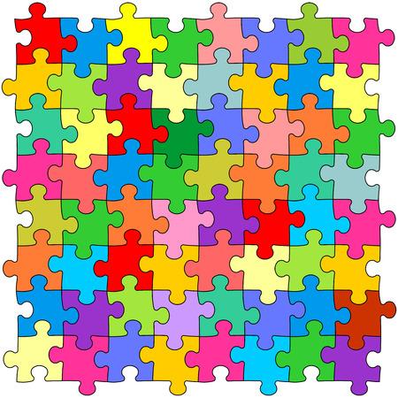 puzzle pieces: Nahtlose Farbe Puzzles Hintergrund Illustration