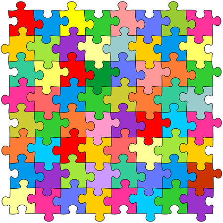 puzzle: Seamless color puzzles background Illustration