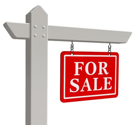 'For sale' real estate sign Stock Photo - 8325709