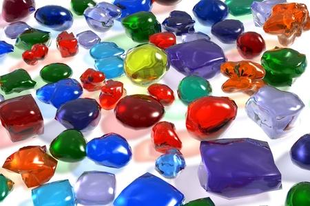 sapphire gemstone: Color gemstones Stock Photo