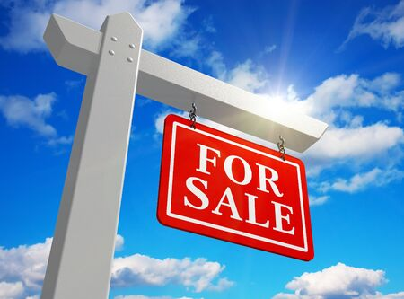 'For sale' real estate sign Stock Photo - 8325717