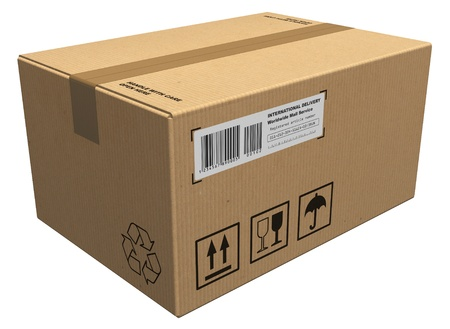 send parcel: Cardboard package