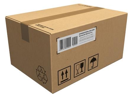 parcels: Cardboard package