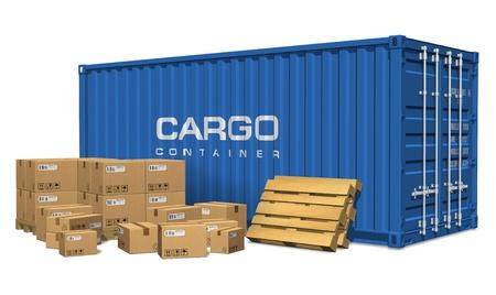 cajas de carton: Cajas de cart�n y contenedor de carga