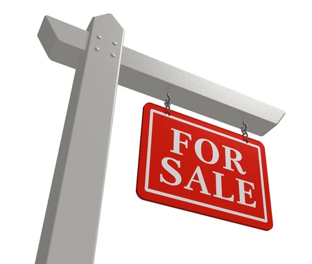 for sale sign: For sale real estate sign