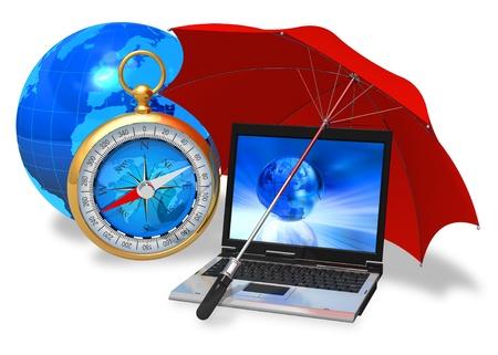 Internet security concept Stock Photo - 8406660