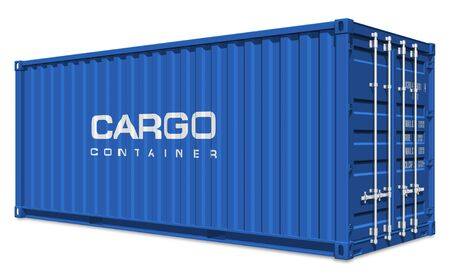 merchandize: Blue cargo container