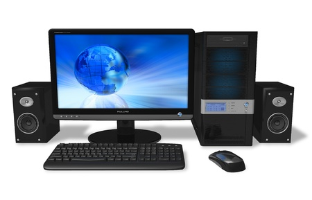 pc case: Desktop PC Stock Photo