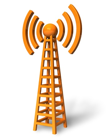 wifi access: Wireless communication tower