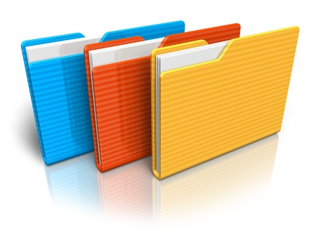 Color folders Stock Photo - 8460419