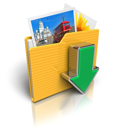 imaging: Download folder icon Stock Photo