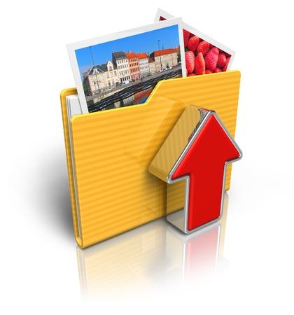 Upload folder icon Stock Photo - 8460418