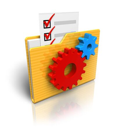 Settings folder icon photo