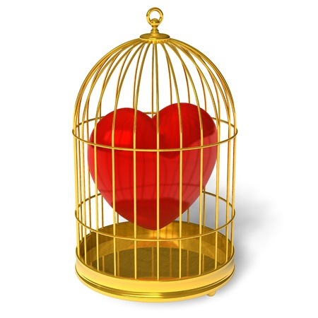 cage: Heart in cage