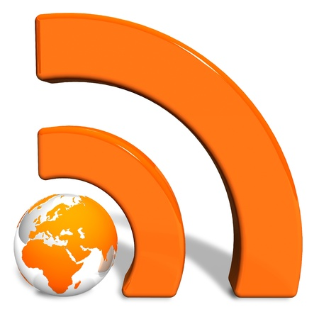 rss feed icon: RSS concept