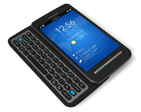 Side slider touchscreen smartphone  Stock Photo - 8542659