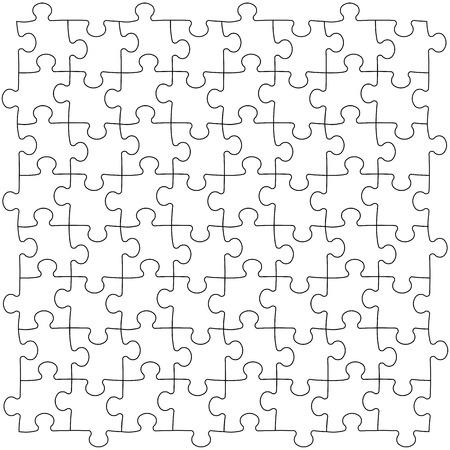 monochroom: Puzzels sjabloon Stock Illustratie