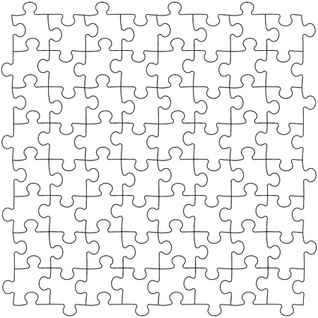 puzzle pieces: Puzzles-Vorlage Illustration