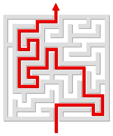 seeking solution: Solved labyrinth