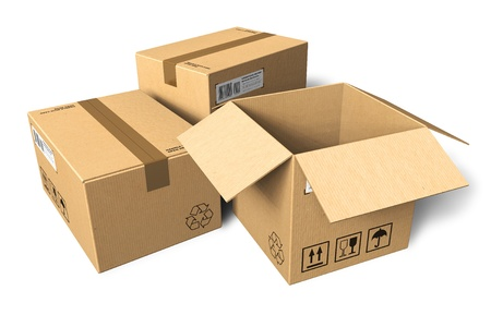 Boîtes en carton Banque d'images