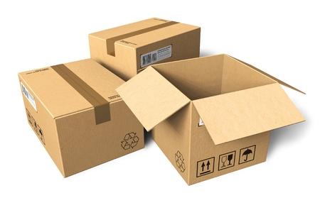 merchandize: Cardboard boxes