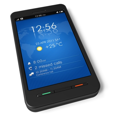 Touchscreen smartphone *** Design of this smartphone is my own Stock Photo - 8644072