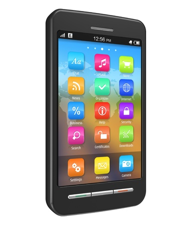 Touchscreen smartphone Stock Photo - 8644084