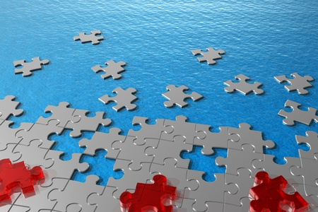water hole: Abstract puzzles in water concept