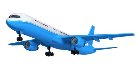 jetliner: Blue isolated passenger liner *** The coloring of this jetliner is my own