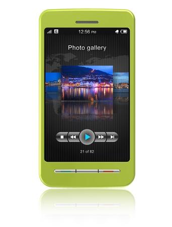 Touchscreen smartphone  Stock Photo - 8644097