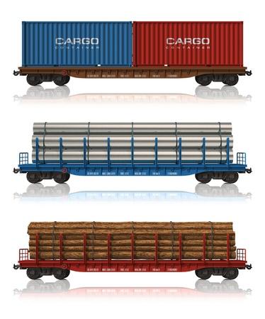 carreta madera: Conjunto de vagones de ferrocarril
