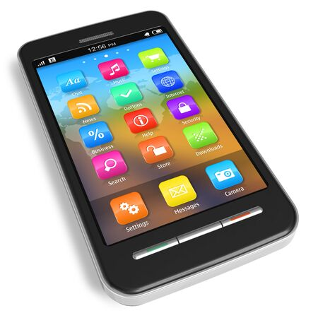 Touchscreen smartphone *** Design of this device is my OWN Stock Photo - 8733324