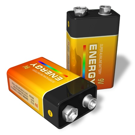 alkaline: 9V batteries
