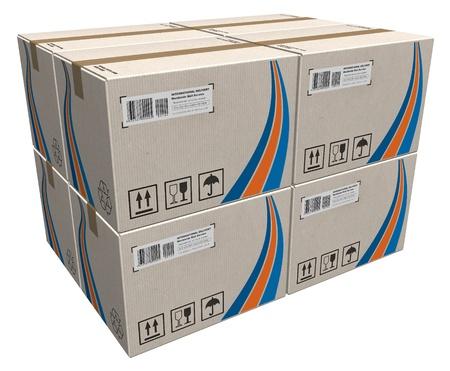 cajas de carton: Pila de cajas de cart�n Foto de archivo