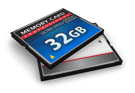 High speed CompactFlash memory cards Stock Photo - 8882499